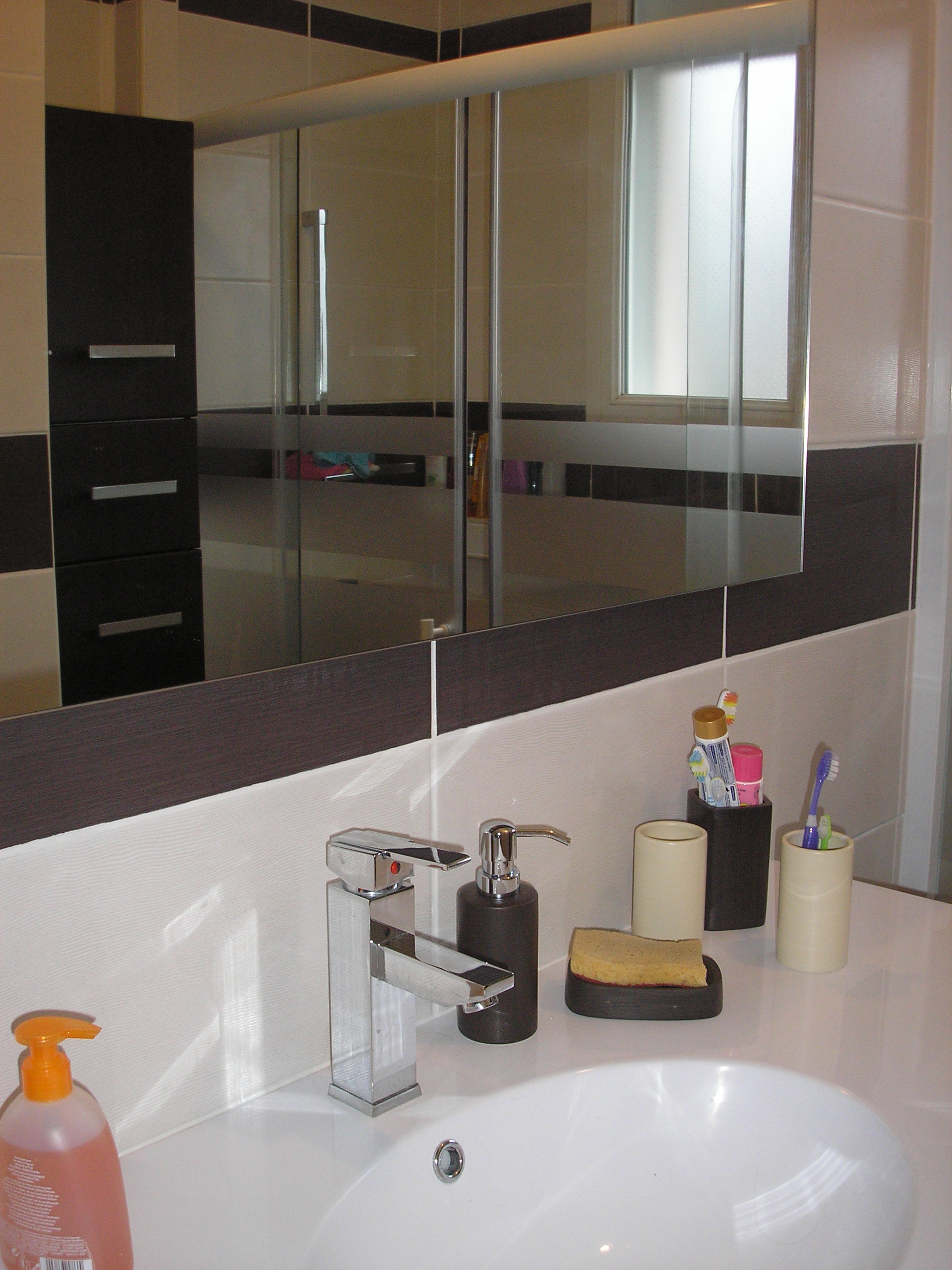 Salle de bain zone vasque et miroir - Zone salle de bain ...